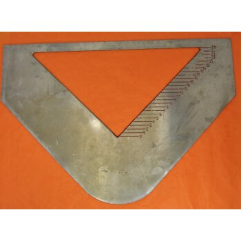 gebrauchtes Messwehr, Messblende, Dreiecksüberfall 25 cm, Edelstahl
