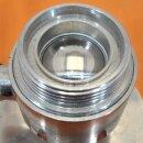 gebrauchter Edelstahl Kugelhahn DN50  Flansch 165 mm...