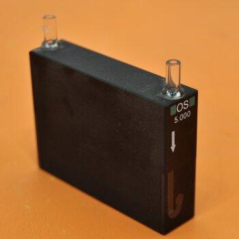gebrauchte Durchflussküvette 50 mm Hellma opt. Spezialglas