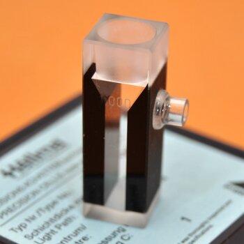 gebrauchte Absaugküvette 10 mm Hellma opt. Spezialglas