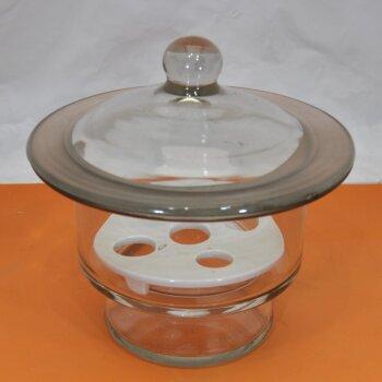 gebrauchter Exsikkator 15 cm, inkl. Porzellanplatte, Deckel