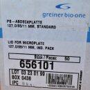 50 x PCR-Abdeckplatte PS hohes Profil Greiner 656101
