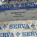 1000 x Alu-Blätter rund 80 mm x 0,03 mm  SERVA 90120