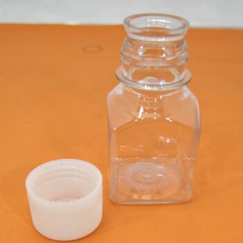 100 x PET Serumflasche 100 mL, Vierkant greiner 8125