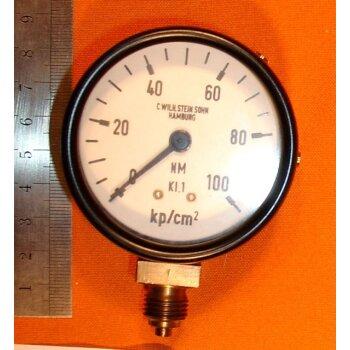 Manometer 0-100 kp/cm² Überdruck