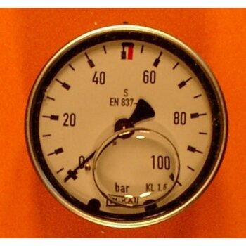 Manometer 0-100 bar Überdruck