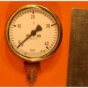 Manometer 0-40 bar Überdruck