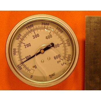Manometer 0-4000 kPa (600 PSI) Überdruck ovp.
