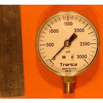 Manometer 0-3000 PSI Überdruck ovp