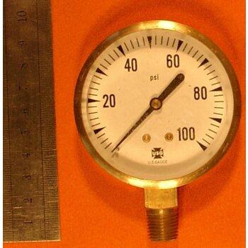 Manometer 0-100 PSI Überdruck ovp
