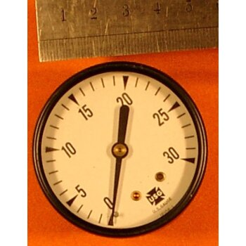 Manometer 0-30 PSIG Überdruck ovp