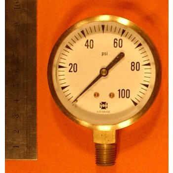 Manometer 0-100 PSI Überdruck