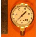 Manometer 0-100 PSI Überdruck