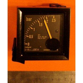 Druckanzeige 0-2,5 bar elektronisch