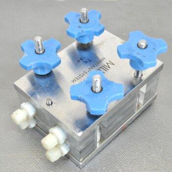 gebrauchtes Millipore MiniTan System Tangentialfluss-Filtergehäuse Edelstahl