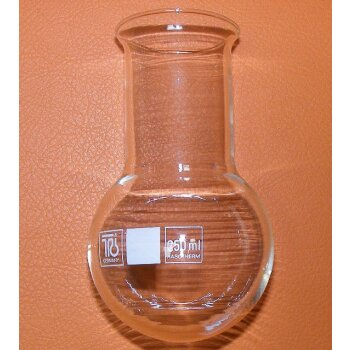 Rundkolben 250 ml Weith. Bördelrand Einhalskolben, unbenutzt