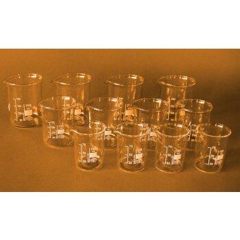 SIMAX Becherglas-Set 12-teilig, niedrige Form, kl. NEUWARE