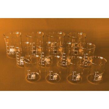 SIMAX Becherglas-Set groß, 12-teilig, niedrige Form, 400, 600, 1000 ml NEUWARE