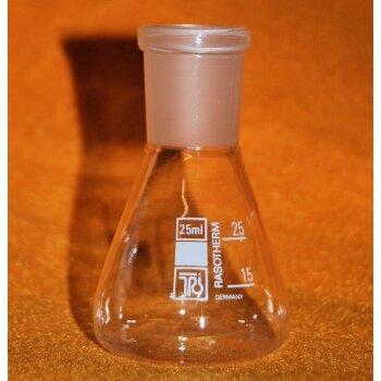 Erlenmeyerkolben 25 ml Enghals m. Schliff NS 19/26 ähnl. Jodzahlkolben unbenutzt