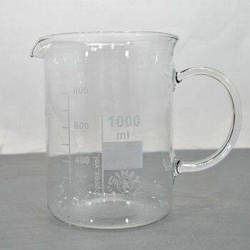 SIMAX Becherglas 1000 mL niedrige Form, mit Henkel, NEUWARE