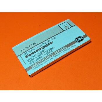 Indikatorpapier Bleiacetatpapier Blei II Acetatpapier, 100 Streifen, Macherey Nagel 90746