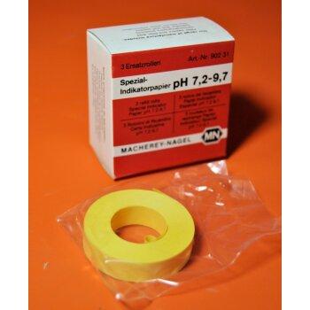 3 Rollen Indikatorpapier Spezial-Indikatorpapier pH 7,2 - 9,7 Macherey Nagel 90231