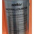 mobile Notfalldusche (Augendusche) NOVITAS, rollbar, Drucktank, Notdusche, Neuware