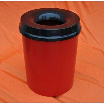 selbstlöschender Mülleimer, BLAU, 15 Liter, Papierkorb, V-Part 101500 , NEU