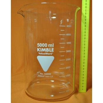 Kimble Chase Becherglas 5000 mL niedrige Form, Boro 3.3, NEUWARE