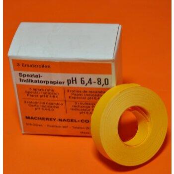 3 Rollen Indikatorpapier Spezial-Indikatorpapier pH 6,4 - 8,0 Macherey Nagel