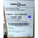 Kimble Chase Rundkolben 500 mL NS 45/40 Boro 3.3, Kimble 65289 NEUWARE
