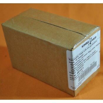 Kimble Chase Messkolben 5 ml Klasse A  NS10/19 ISO Boro 3.3 mit Stopfen, Neuware