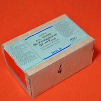 25 DC-Platten Merck 15685 DC-Fertigplatten 5x10 cm  RP-18 F254S Schichtdicke 0,25mm