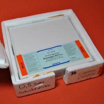 20 DC-Platten Merck 5744 DC-Fertigplatten 20x20 cm Kieselgel 60 F254  0,5 mm