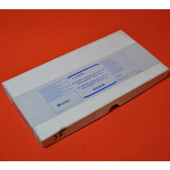 2 DC-Platten Merck 1.15445. HPTLC-Platten 10x20 cm LiChrospher Si 60 F254S