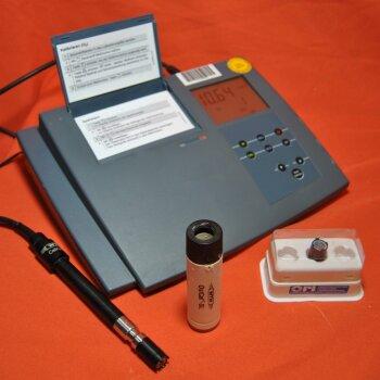 gebrauchtes Sauerstoffmessgerät WTW InoLab OXI 730 mit Elektrode CellOx325