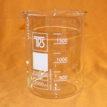 TGI Becherglas 2000 mL niedrige Form, Boro 3.3, NEUWARE