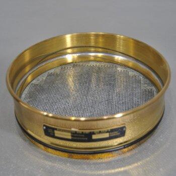 neuwertiges Analysensieb 1,6 mm D=200mm  Messing/Stahl Haver & Boecker