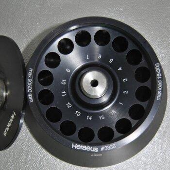 gebrauchter Festwinkel-Rotor Heraeus #3336 | 16x16ml, 20.500 U/min
