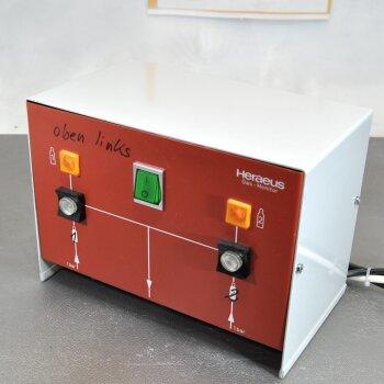 gebrauchtes automatisches Flaschen-Umschaltventil Heraeus GM Gasmonitor für CO2, N2/O2