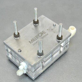 gebrauchter Millipore MiniTan II System Tangentialfluss-Filtergehäuse Edelstahl