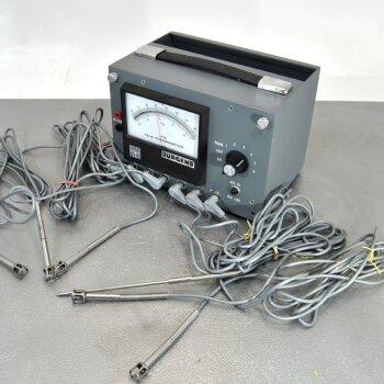 gebrauchtes elektronisches 6-Kanal-Thermometer mit Fühlern Simpson YSI Tele-Thermometer 20...42°C